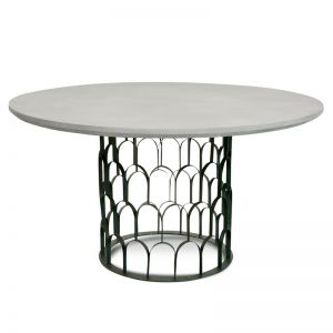 Gatsby 1.4M Round Dining Table | Grey Black or White Black | Interior Secrets
