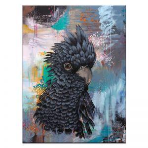 Gavin The Glossy Black Cockatoo | Amanda Skye-Mulder | Canvas or Print by Artist Lane