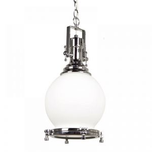 Gelos Rose Pendant Light | Clear Chrome