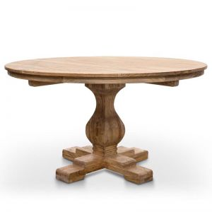 Gene Reclaimed Round Dining Table with Upgraded Top | 140cm | Rustic Natural