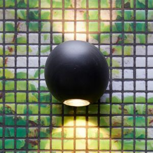 Genoa Up Down Wall Light in Black | By Beacon Lighting