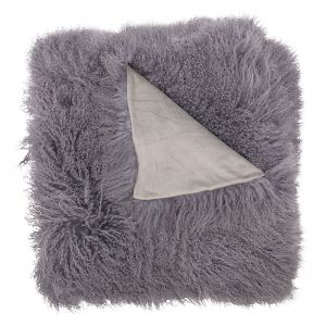 Genuine Mongolian Sheepskin Blanket | Slate 180cm x 120cm