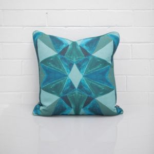 Geo Blue Cushion I Jak & Co Design