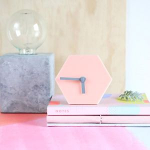 Geo Desk Clock | Blush Pink