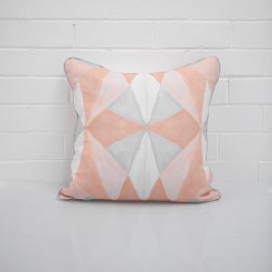 Geo Peach Cushion I Jak & Co Design