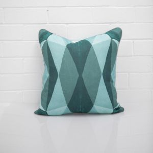 Geo Teal Cushion I Jak & Co Design