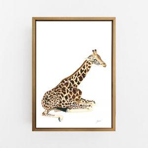 Geoffrey the Baby Giraffe by Pick a Pear | Canvas Wall Art