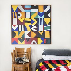 Geometric Collage Canvas