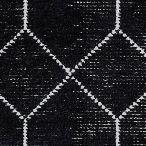 Geometrics Midnight Distressed Rug | Blue Black