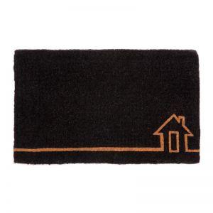 Ghar Black 100% Coir Door Mat 45 Cm X 75 CM | Welcome Mat | Entry Mat | Fab Habitat