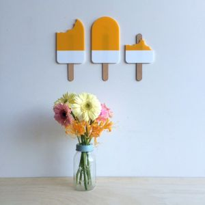 Giant Paddle Pop Sets   Yellow Paddle Pop Set   Wall Art