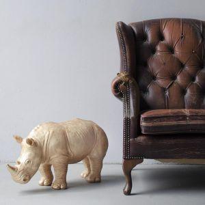 Giant Resin Rhino   Gold
