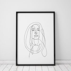 Gigi | Portrait Art Print | Framed or Unframed