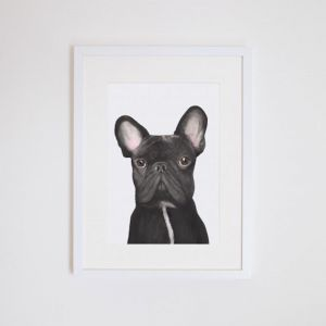 Gilbert the French Bulldog Giclee Print | by For Me By Dee