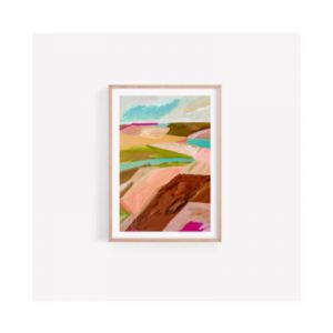 Gindie Abstract Australian Outback Bush Landscape | Unframed Print