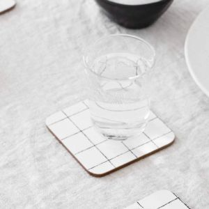Glam Grid Cork Backed Coasters