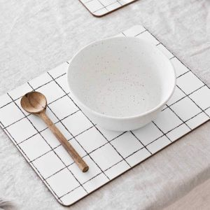 Glam Grid Cork Backed Placemats