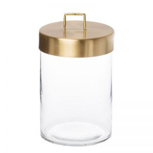 Glass Jar | Large | Black or Brass | By Zakkia