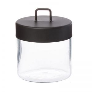 Glass Jar | Medium | Black or Brass | By Zakkia
