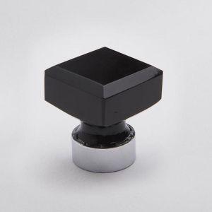 Glass Knob | Square Black