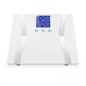 Glass LCD Digital Body Fat Scale Bathroom Electronic Gym Water Weighing Scales White