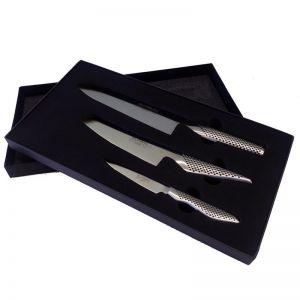 Global 3-Piece Kitchen Knives Santoku Gift Box Set