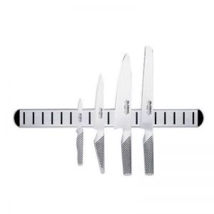 Global Chefs 4 Piece Knife Set With Magnetic Rack