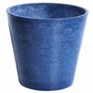 Glossy Blue Garden Pot | 25cm