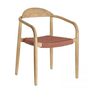Glynis Chair In Solid Eucalyptus With Terracotta Cord