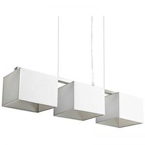 Godwin Square Trio Pendant Lights | White | Modern Furniture