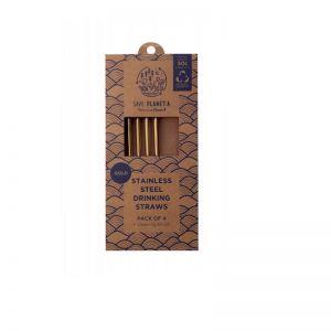 Gold Drinking Straws | 4pk Sale 50% off