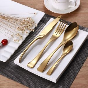 Gold Stainless Steel Cutlery | 24 Piece Set