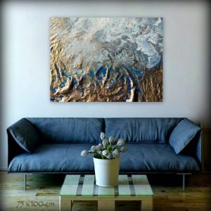 Gold Storm by Petra Meikle De Vlas | Ltd. Edition Canvas Print | Art Lovers Australia