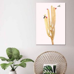 Golden Cactus 2 | Canvas Print | by United Interiors