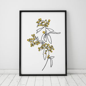 Golden Wattle | Australian Art Print | Framed or Unframed