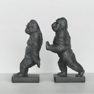 Gorilla Bookend Set | Black