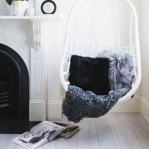Gotland Sheepskin Rug | Charcoal Grey