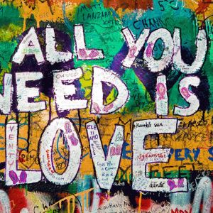 Graffiti Art | All You Need Is Love | Art Print on Stretched canvas | by Artscope