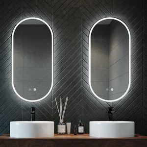 Great Gatsby Contemporary Illuminated Oval Mirror