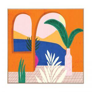 Greece Balcony | Boxed Canvas Print