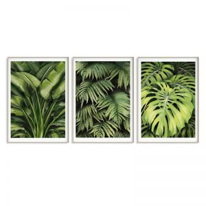Green Leaves Trio Print Set | Sara Turner