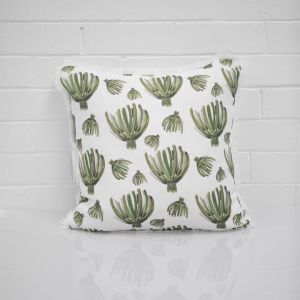 Green Palm Cushion I Jak & Co Design