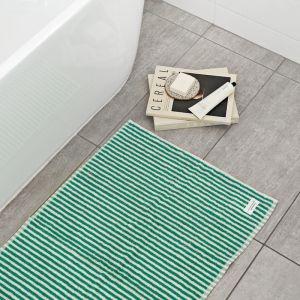 Green Stripe Bath Mat