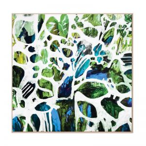 Green Tangle   Framed Canvas Art