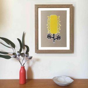 Grevillea A4 Art Print | Unframed