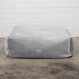 Grey Diamonds Velvet Floor Cushion Cover I Jak & Co Design