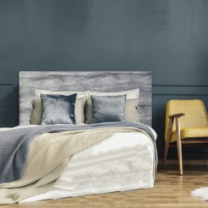 Grey Marble Velvet Upholstered Bedhead | All Sizes | Custom Made by Martini Furniture