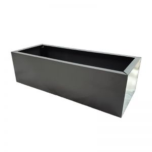 Grey Metal Planter | Small 83cm Long