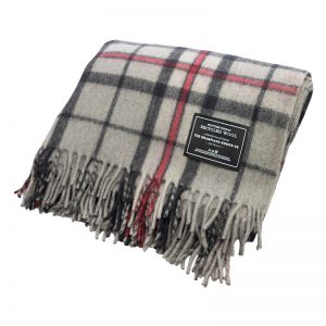 Grey | Recycled Wool Scottish Tartan Blankets