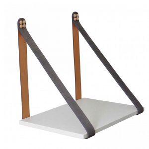 Grey Suede Strap Sidetable | Linen